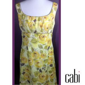 Beautiful Vintage cabi Spring 2007 Rose Dress EUC